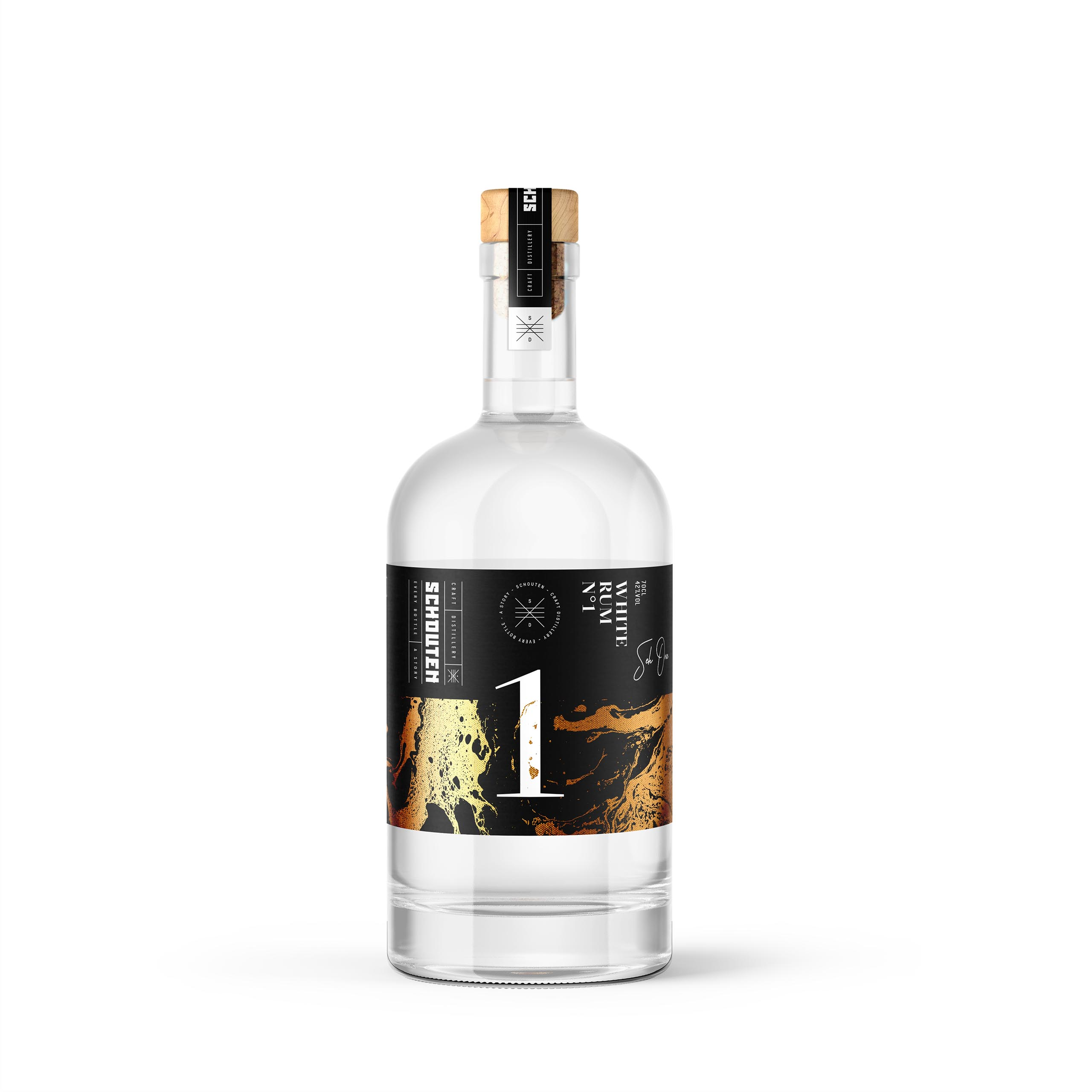 Schouten Distillery. Seh One No.1 White Rum
